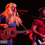 Sarah Blackwood and Ryan Marshall of Walk Off The Earth performs June 15, 2012 at Slim's in San Francisco, California