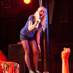 Sarah Blackwood of Walk Off The Earth performs June 15, 2012 at Slim's in San Francisco, California