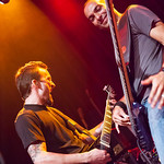 "Dan Monti (L) and Mario Pagliarulo perform with Serj Tankian on September 24, 2012 during his ""Harakiri Tour 2012"" at the Fillmore in San Francisco, California"
